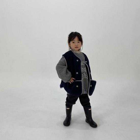 MELONSWITCH - Korean Children Fashion - #Kfashion4kids - Fleeced Stretchy Pants - 7