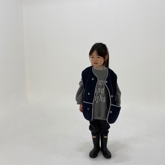 MELONSWITCH - Korean Children Fashion - #Kfashion4kids - Fleeced Stretchy Pants - 8