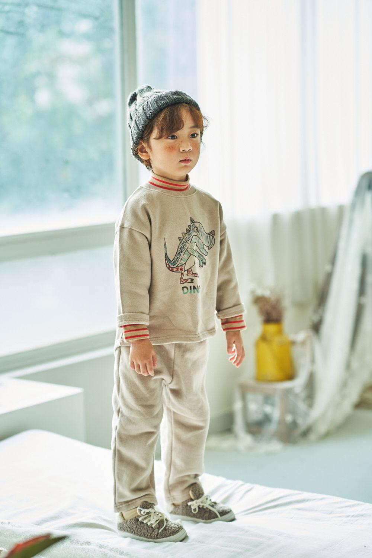 MIMICO - Korean Children Fashion - #Kfashion4kids - Dino Top Bottom Set