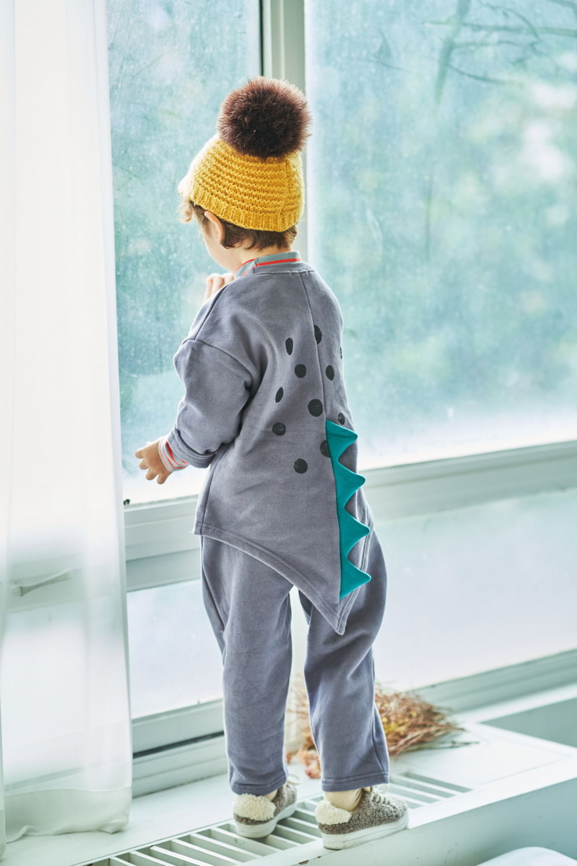 MIMICO - Korean Children Fashion - #Kfashion4kids - Dino Top Bottom Set - 11