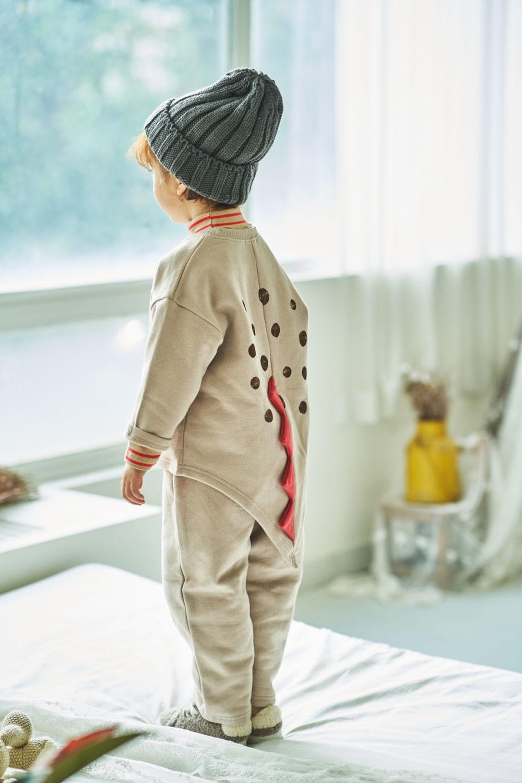 MIMICO - BRAND - Korean Children Fashion - #Kfashion4kids - Dino Top Bottom Set