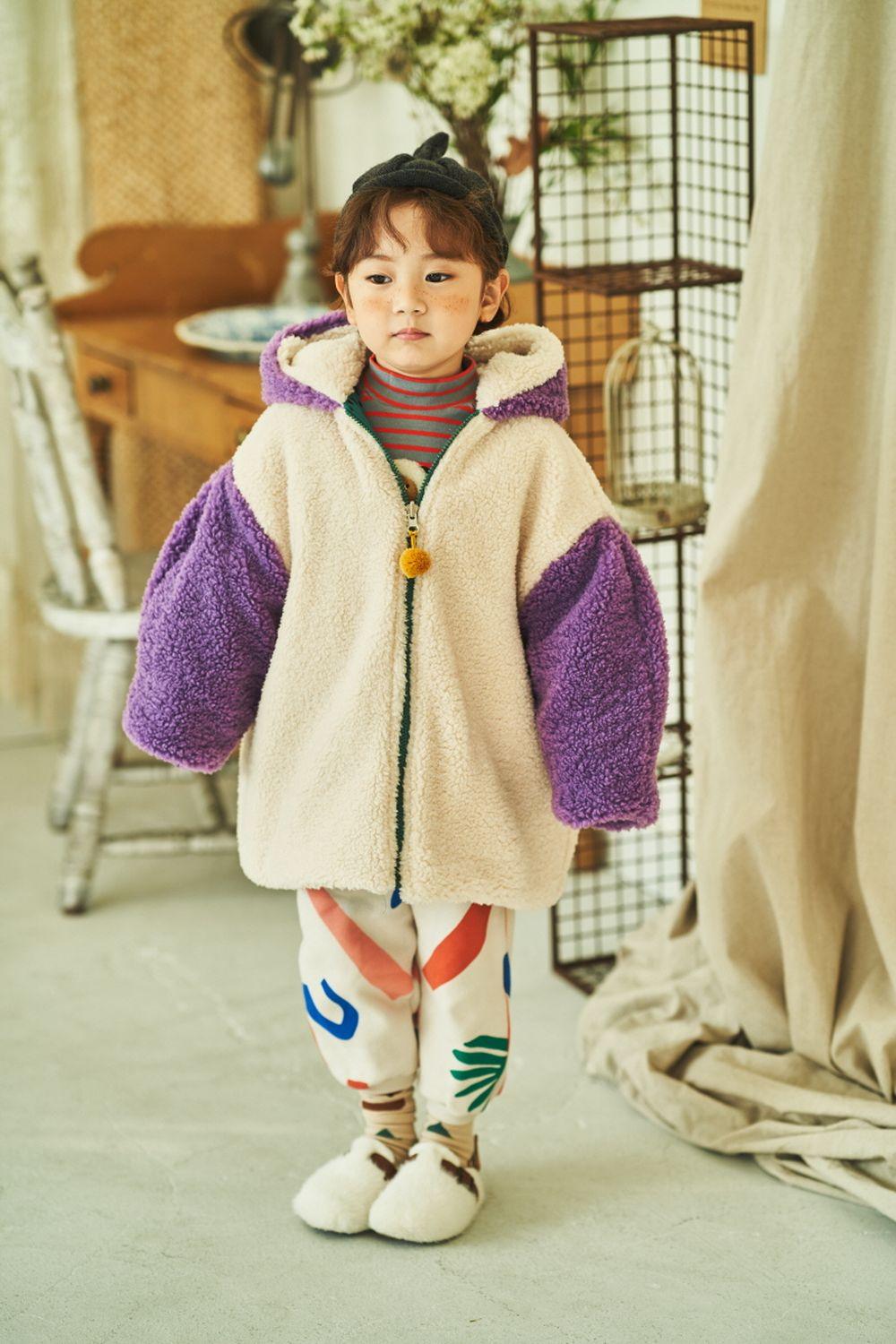 MIMICO - Korean Children Fashion - #Kfashion4kids - Piping Print Pants