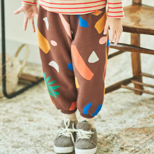 MIMICO - Korean Children Fashion - #Kfashion4kids - Piping Print Pants - 4