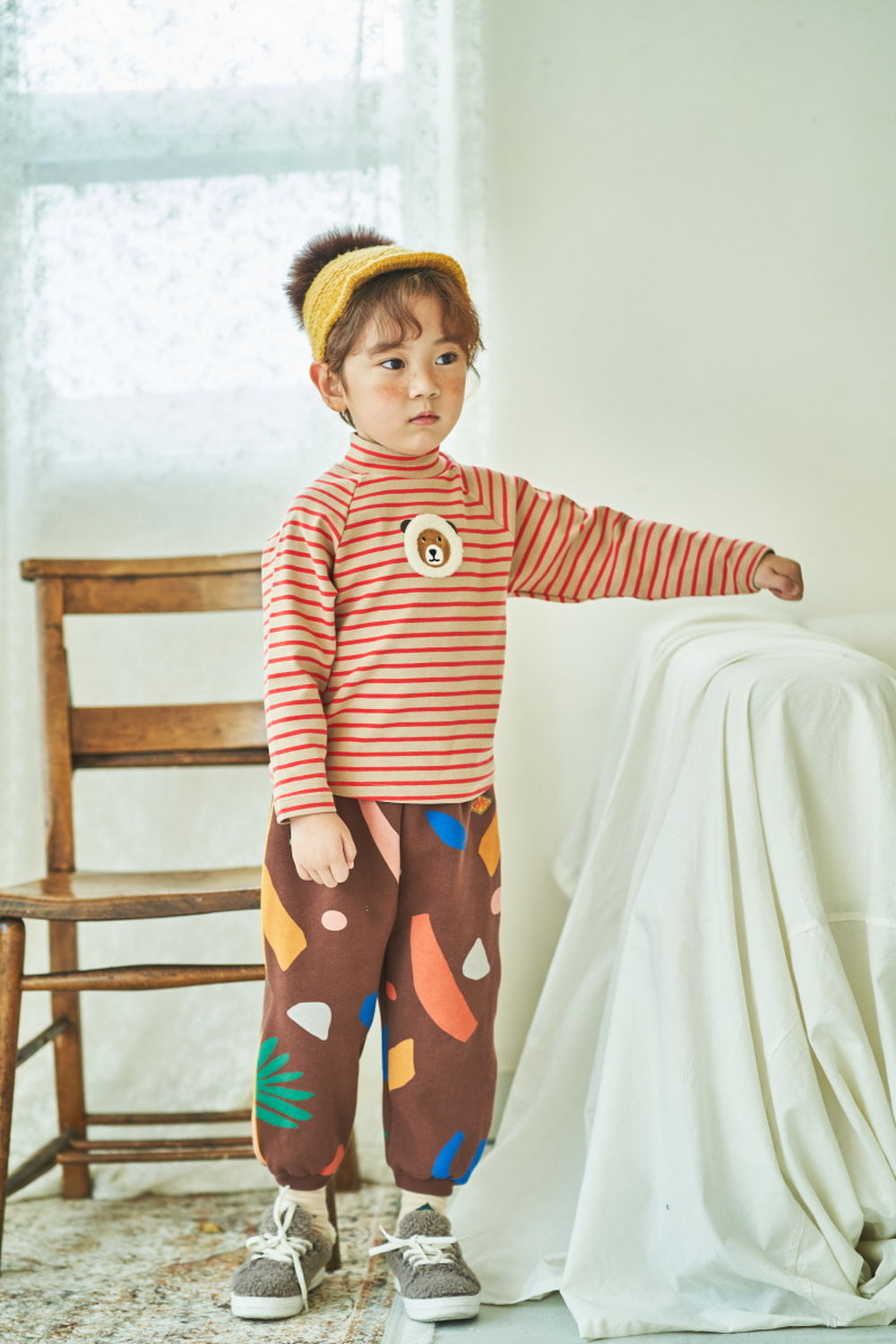 MIMICO - Korean Children Fashion - #Kfashion4kids - Piping Print Pants - 5