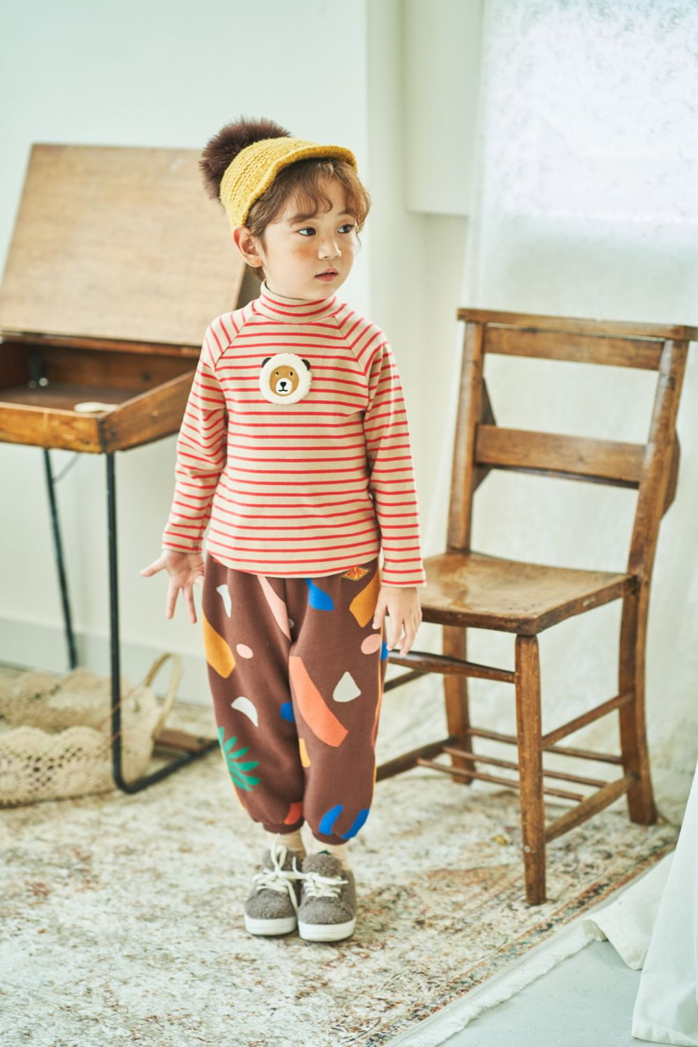 MIMICO - Korean Children Fashion - #Kfashion4kids - Piping Print Pants - 6