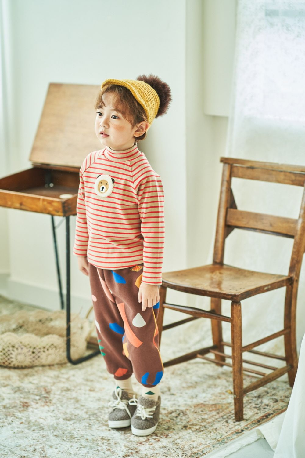MIMICO - Korean Children Fashion - #Kfashion4kids - Piping Print Pants - 7
