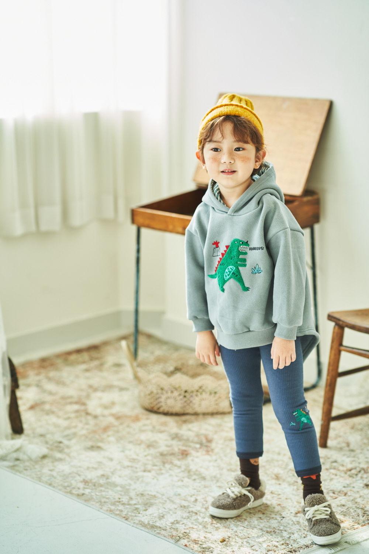 MIMICO - Korean Children Fashion - #Kfashion4kids - Winter Dino Hood Pullover