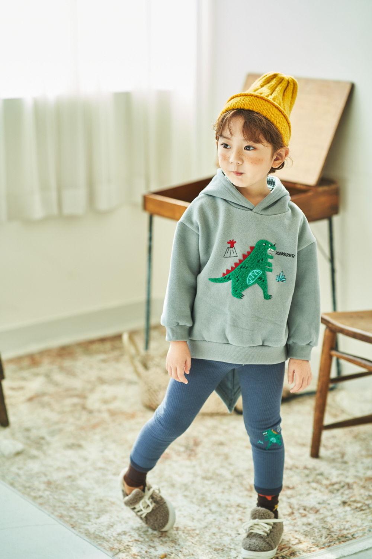 MIMICO - Korean Children Fashion - #Kfashion4kids - Winter Dino Hood Pullover - 2