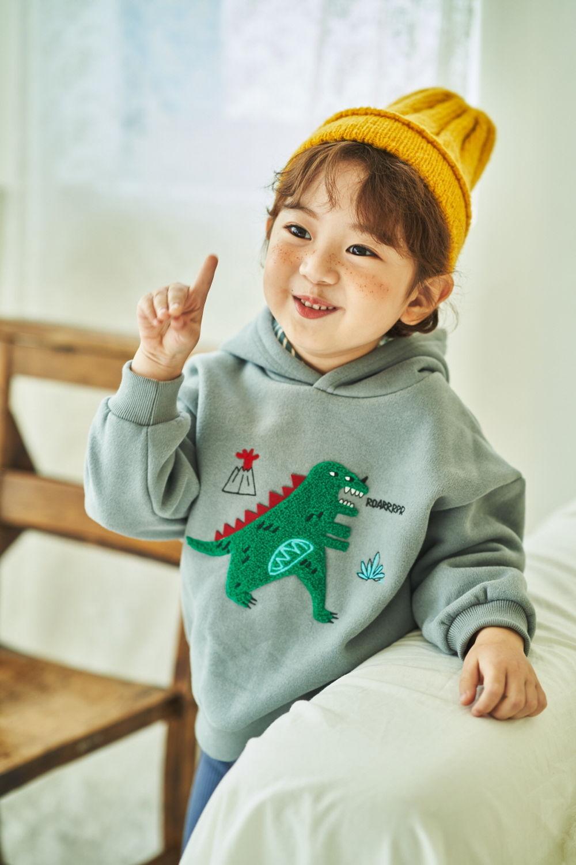 MIMICO - Korean Children Fashion - #Kfashion4kids - Winter Dino Hood Pullover - 4