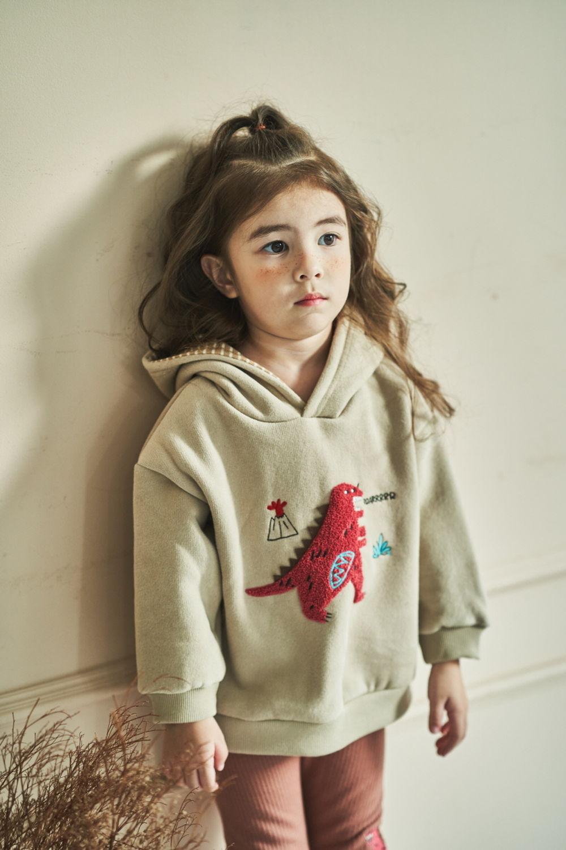 MIMICO - Korean Children Fashion - #Kfashion4kids - Winter Dino Hood Pullover - 8