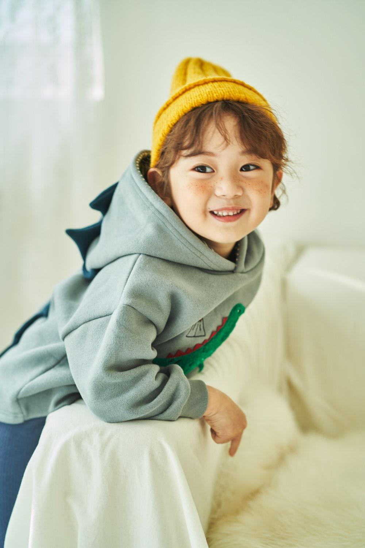 MIMICO - BRAND - Korean Children Fashion - #Kfashion4kids - Winter Dino Hood Pullover