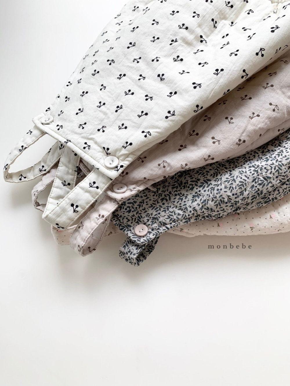 MONBEBE - Korean Children Fashion - #Kfashion4kids - Cherry Bonding Suspender Bodysuit - 11