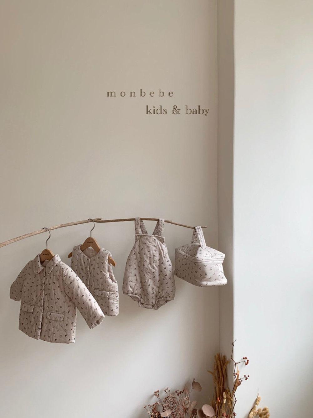 MONBEBE - Korean Children Fashion - #Kfashion4kids - Cherry Bonding Suspender Bodysuit - 7
