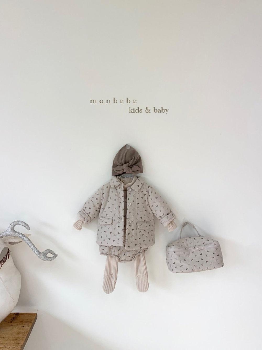 MONBEBE - Korean Children Fashion - #Kfashion4kids - Cherry Bonding Suspender Bodysuit - 9