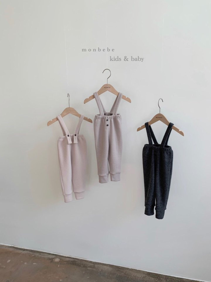 MONBEBE - Korean Children Fashion - #Kfashion4kids - Cozy Suspender Pants