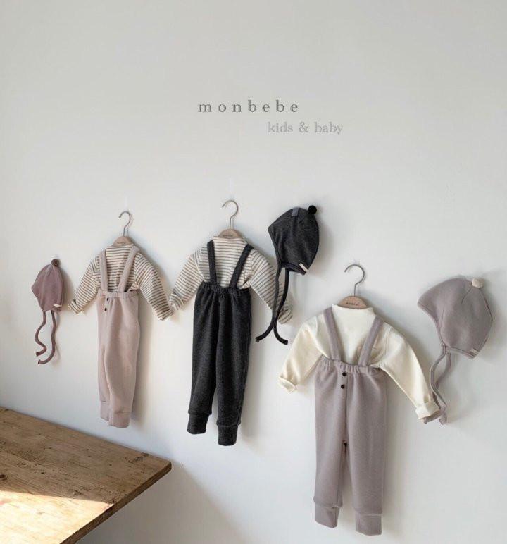 MONBEBE - Korean Children Fashion - #Kfashion4kids - Cozy Suspender Pants - 8