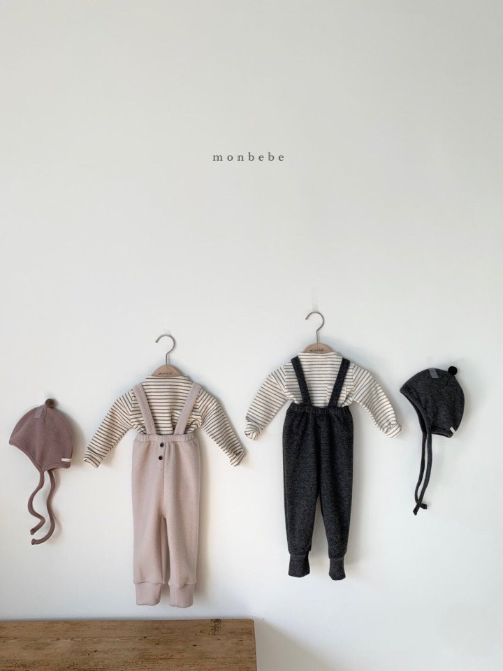MONBEBE - Korean Children Fashion - #Kfashion4kids - Cozy Suspender Pants - 9