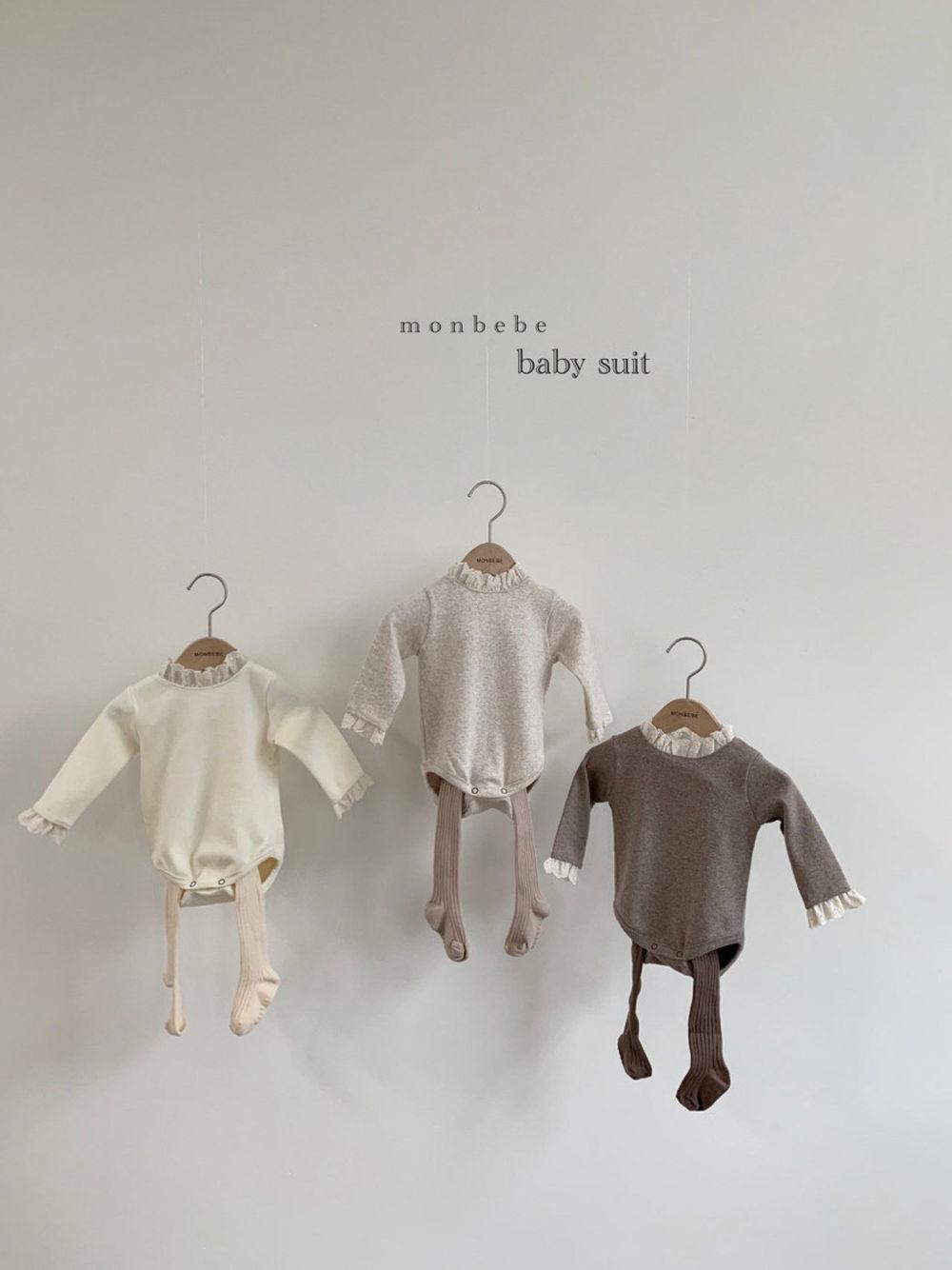 MONBEBE - Korean Children Fashion - #Kfashion4kids - Lace Bodysuit - 2