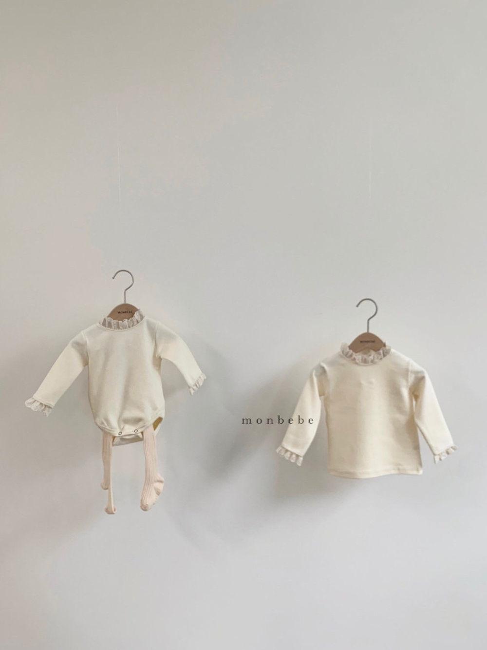 MONBEBE - Korean Children Fashion - #Kfashion4kids - Lace Bodysuit - 3