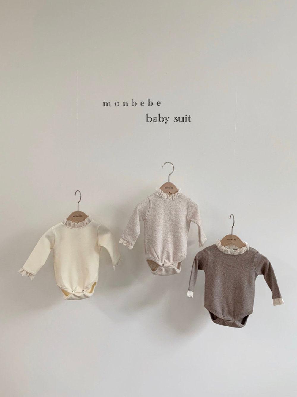 MONBEBE - BRAND - Korean Children Fashion - #Kfashion4kids - Lace Bodysuit