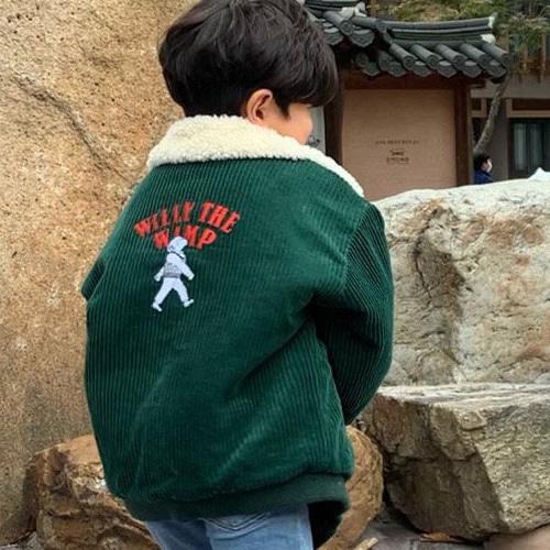 MOOI STORE - BRAND - Korean Children Fashion - #Kfashion4kids - Embroidery Corduroy Jumper