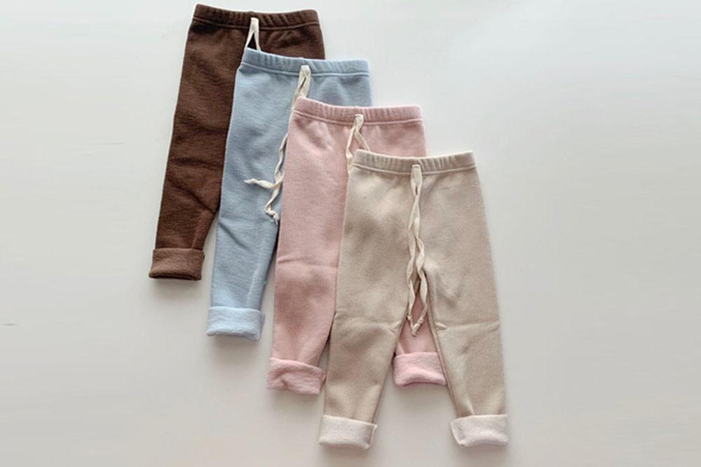 MY BEBE - BRAND - Korean Children Fashion - #Kfashion4kids - Pastel Fleeced Leggings