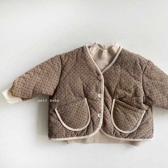 OOTT BEBE - Korean Children Fashion - #Kfashion4kids - Dot Padding Top Bottom Set - 10