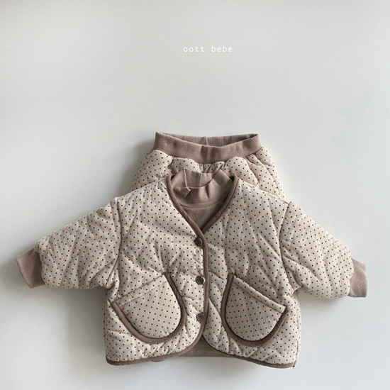 OOTT BEBE - Korean Children Fashion - #Kfashion4kids - Dot Padding Top Bottom Set - 6