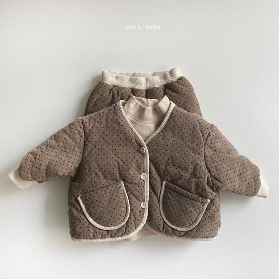 OOTT BEBE - Korean Children Fashion - #Kfashion4kids - Dot Padding Top Bottom Set - 7