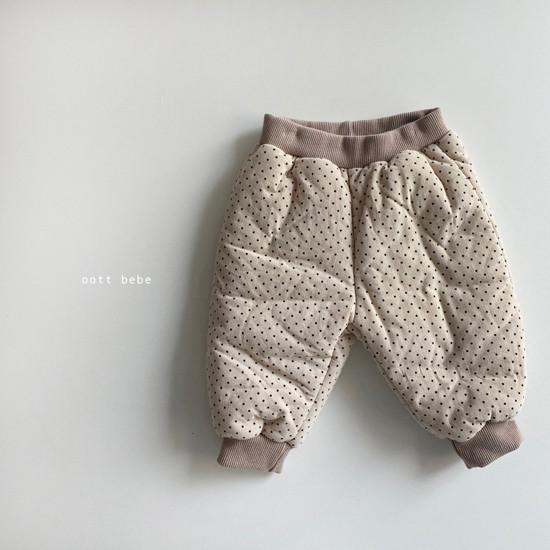 OOTT BEBE - Korean Children Fashion - #Kfashion4kids - Dot Padding Top Bottom Set - 9