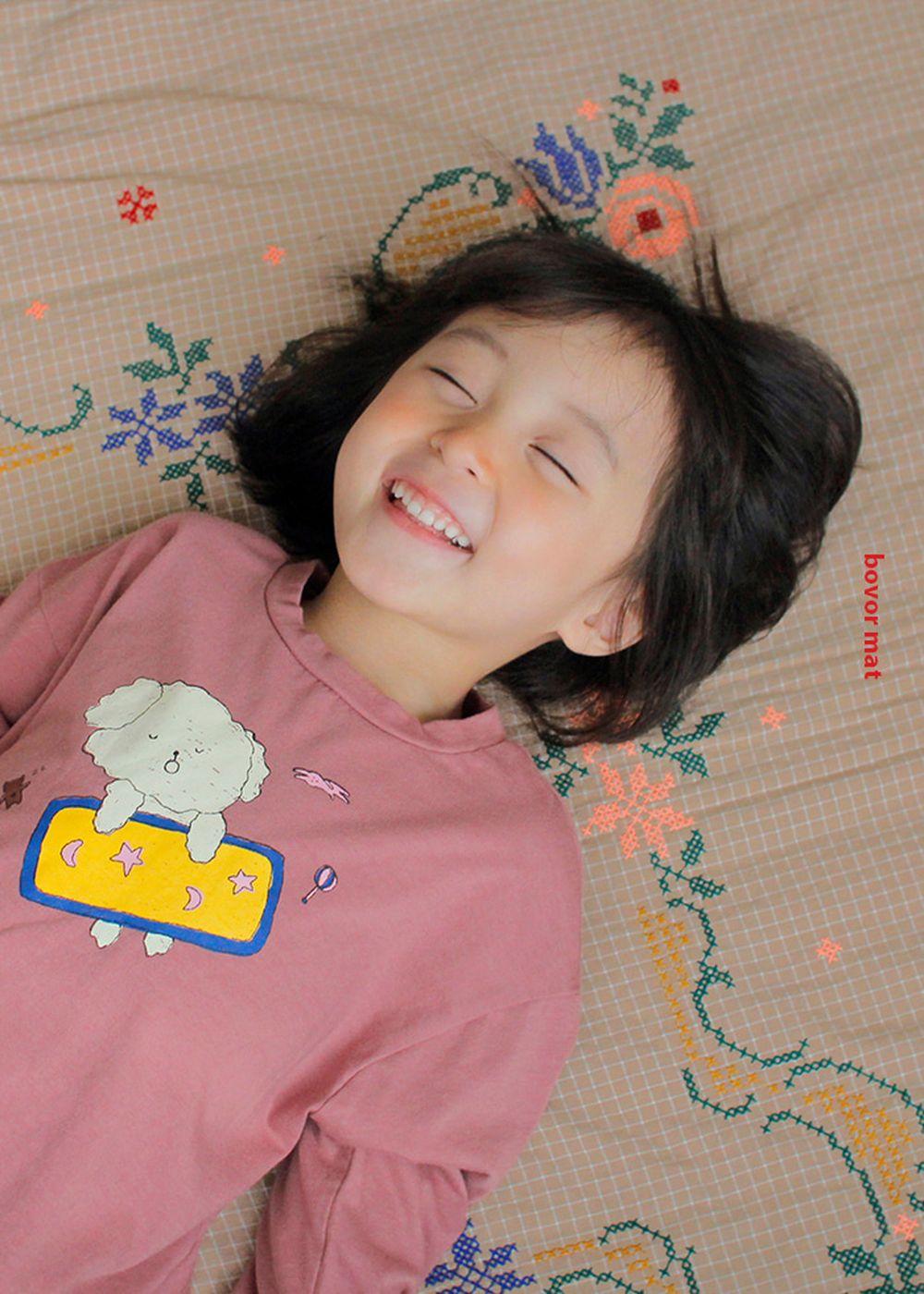 PINSON - Korean Children Fashion - #Kfashion4kids - Bobore Embroidery Mat