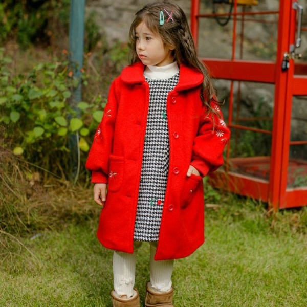 PUDDING - BRAND - Korean Children Fashion - #Kfashion4kids - Embroidery Coat