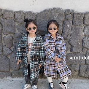 SAINT DOLL - BRAND - Korean Children Fashion - #Kfashion4kids - Isable Check Padding Jumper