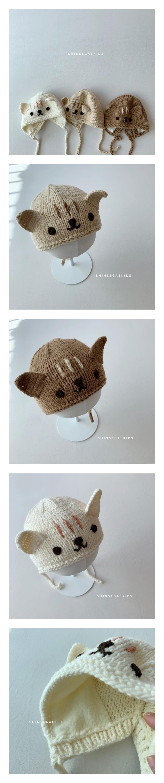 SHINSEAGE KIDS - Korean Children Fashion - #Kfashion4kids - Cat Knit Bonnet