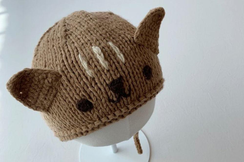 SHINSEAGE KIDS - BRAND - Korean Children Fashion - #Kfashion4kids - Cat Knit Bonnet
