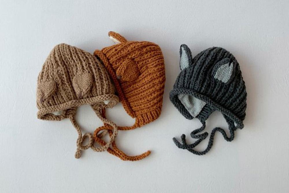 SHINSEAGE KIDS - BRAND - Korean Children Fashion - #Kfashion4kids - Fox Knit Bonnet