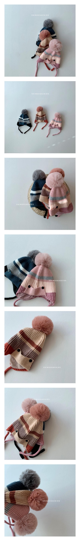SHINSEAGE KIDS - Korean Children Fashion - #Kfashion4kids - Stripe Drop Beanie