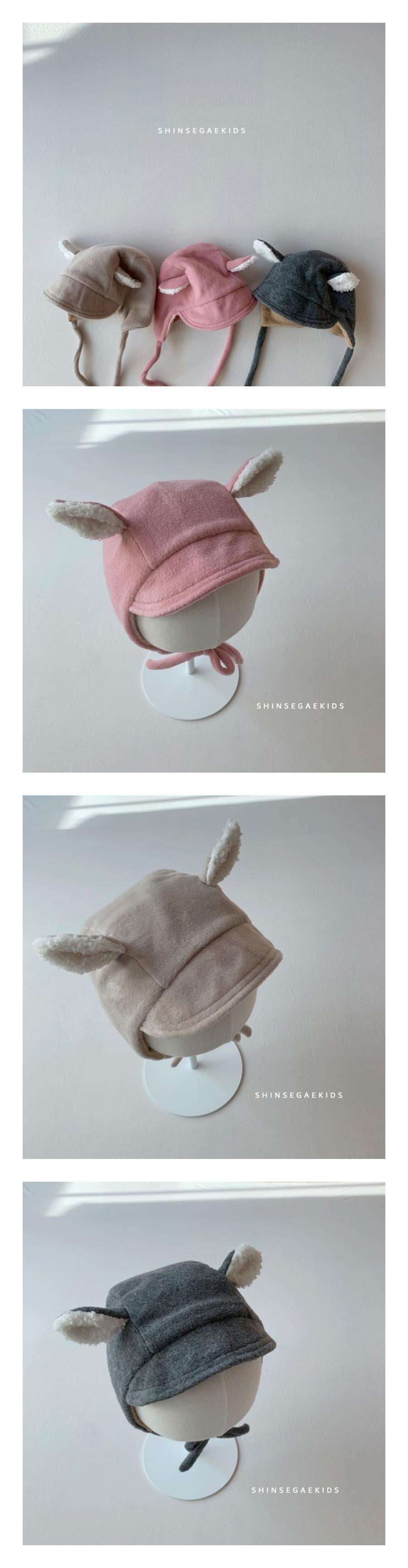 SHINSEAGE KIDS - Korean Children Fashion - #Kfashion4kids - Ear String Bonnet