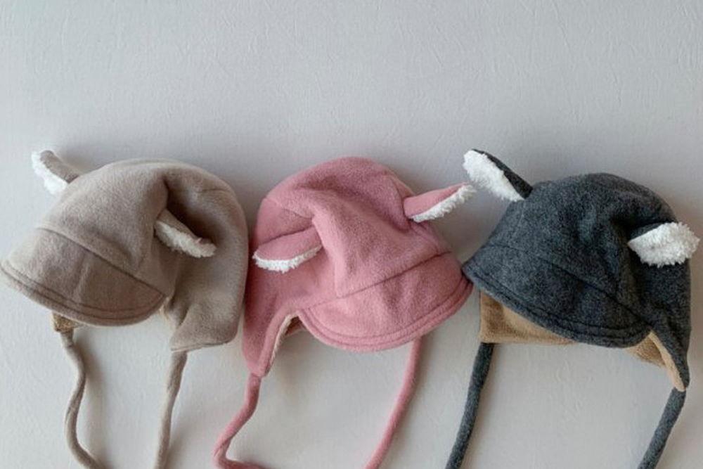 SHINSEAGE KIDS - BRAND - Korean Children Fashion - #Kfashion4kids - Ear String Bonnet