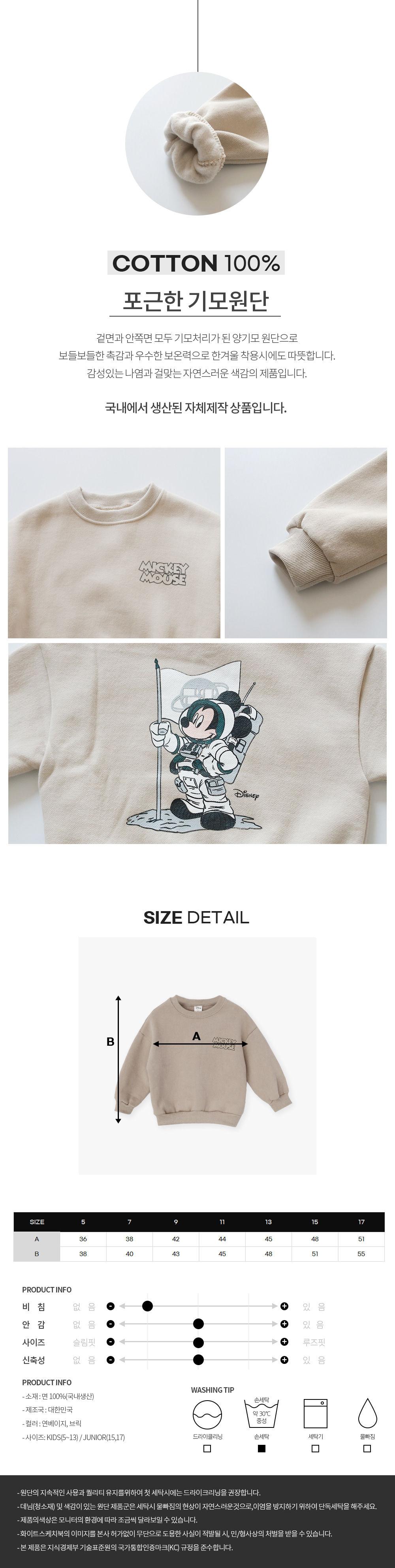 WHITESKETCHBOOK - Korean Children Fashion - #Kfashion4kids - Space Mickey Sweatshirt - 4