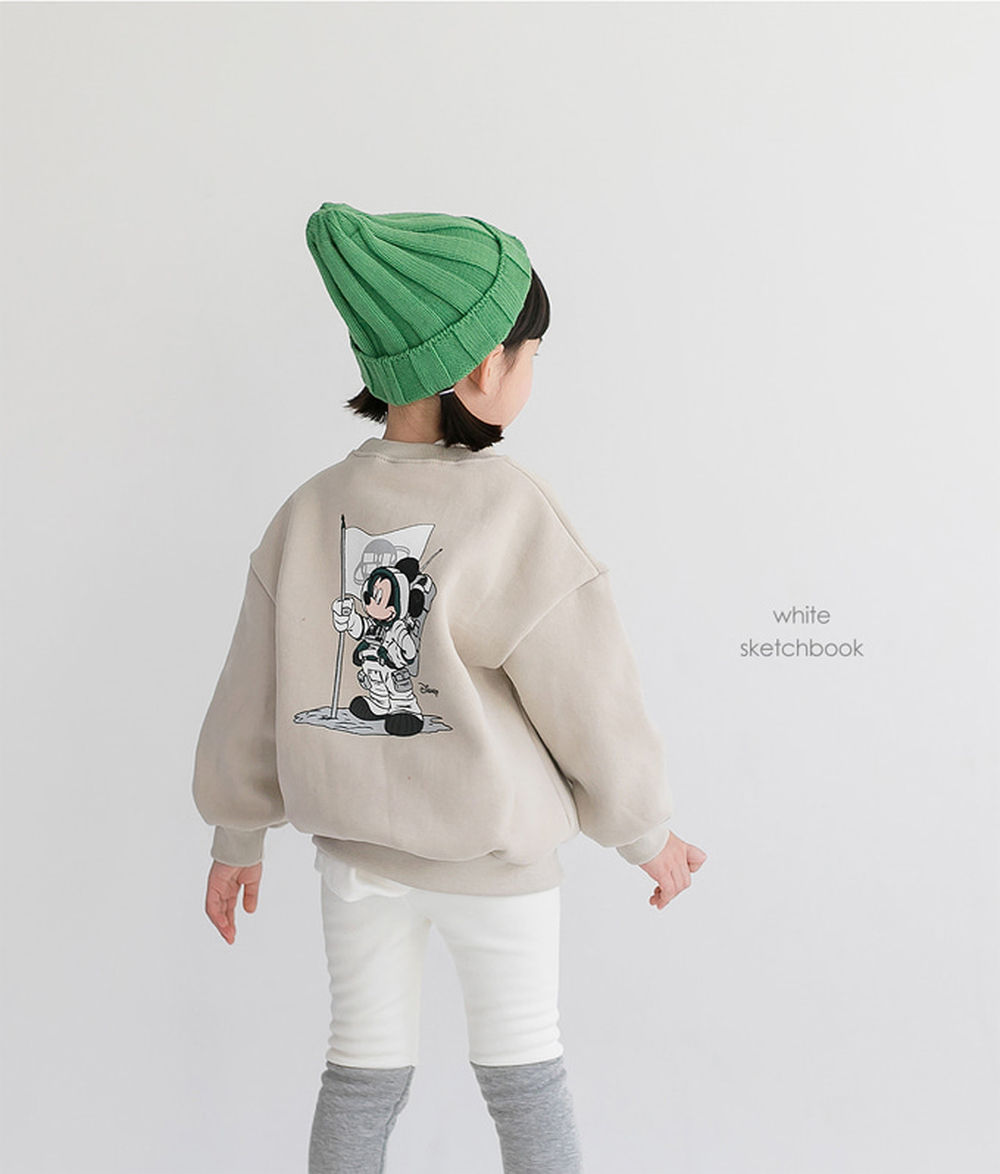 WHITESKETCHBOOK - BRAND - Korean Children Fashion - #Kfashion4kids - Space Mickey Sweatshirt