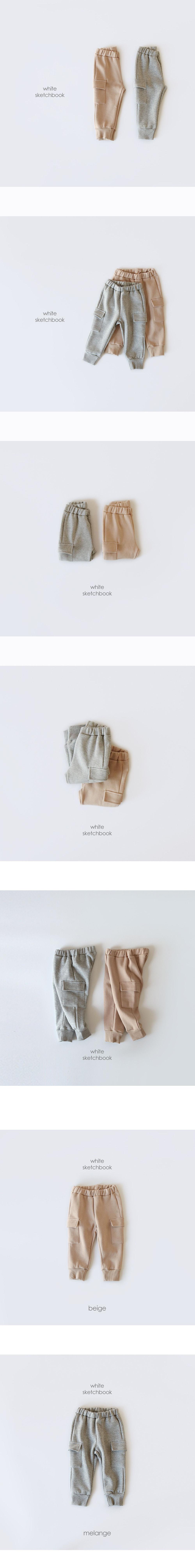 WHITESKETCHBOOK - Korean Children Fashion - #Kfashion4kids - Pocket Cargo Pants - 3
