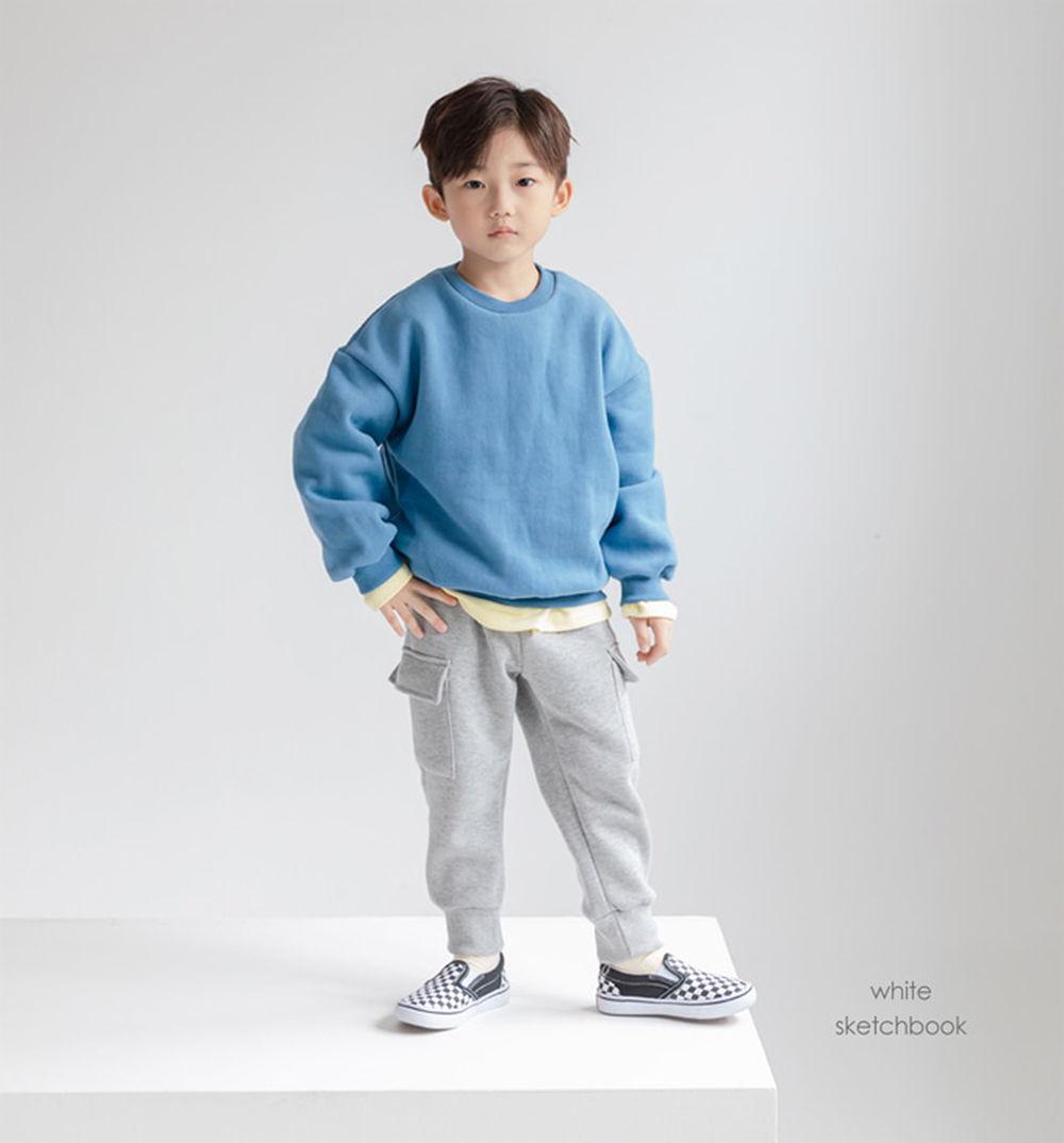 WHITESKETCHBOOK - BRAND - Korean Children Fashion - #Kfashion4kids - Pocket Cargo Pants