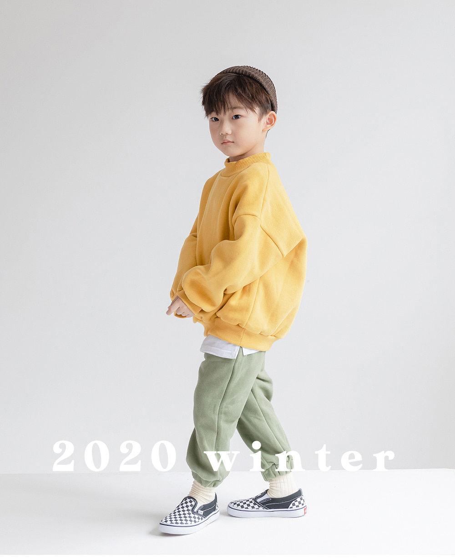 WHITESKETCHBOOK - Korean Children Fashion - #Kfashion4kids - Jogger Fleeced Pants