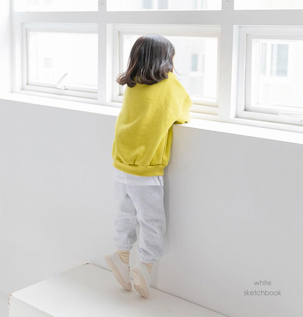 WHITESKETCHBOOK - BRAND - Korean Children Fashion - #Kfashion4kids - Jogger Fleeced Pants