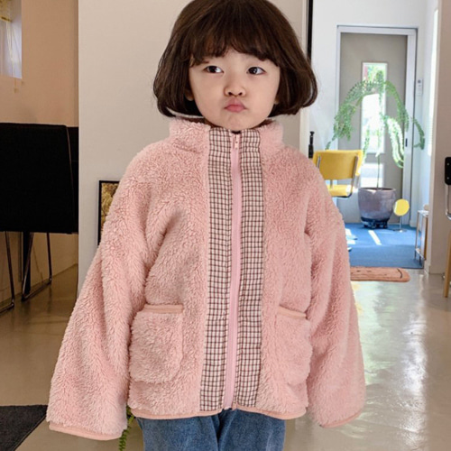 YELLOW FACTORY - BRAND - Korean Children Fashion - #Kfashion4kids - Retro Fleece Jacket