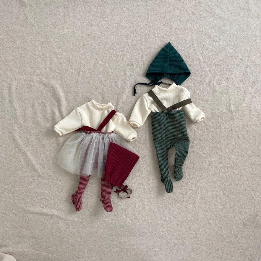 BEBE HOLIC - Korean Children Fashion - #Kfashion4kids - Fairy Suspender Leggings with Bonnet - 3