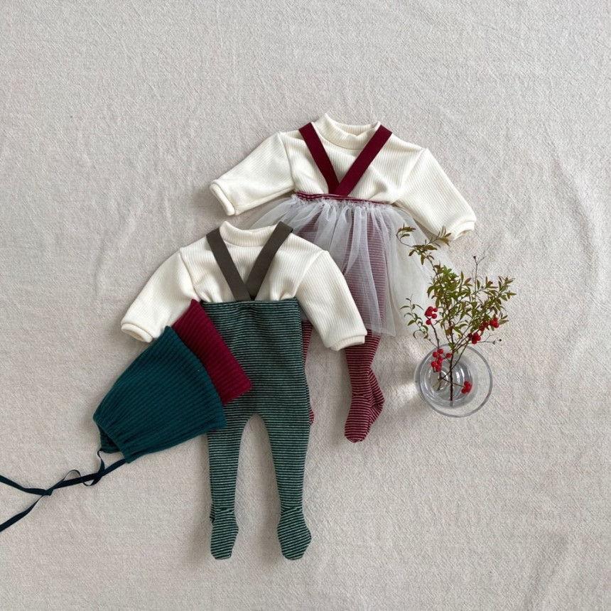BEBE HOLIC - Korean Children Fashion - #Kfashion4kids - Fairy Suspender Leggings with Bonnet - 4