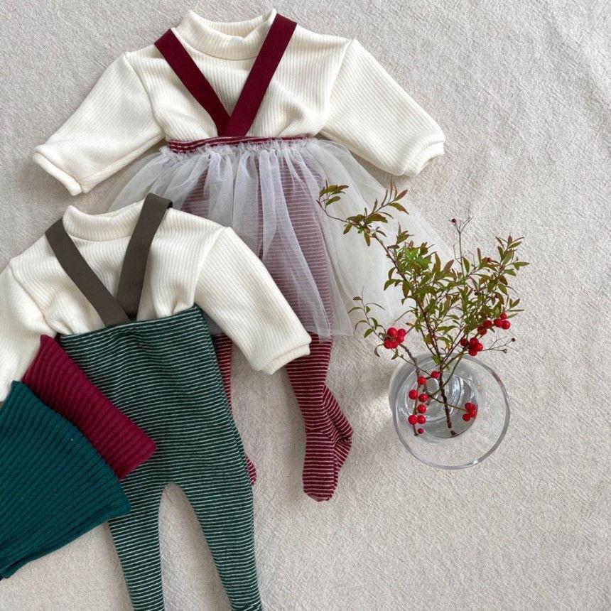 BEBE HOLIC - Korean Children Fashion - #Kfashion4kids - Fairy Suspender Leggings with Bonnet - 5