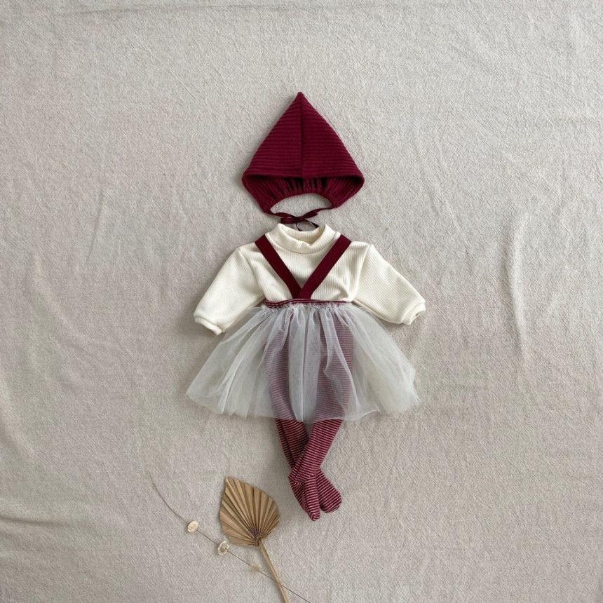 BEBE HOLIC - Korean Children Fashion - #Kfashion4kids - Fairy Suspender Leggings with Bonnet - 6
